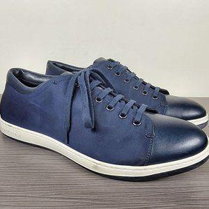 Giorgio Armani Nubuck With Leather Cap Toe Sneaker